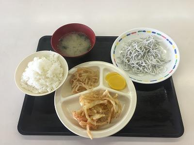 夕食(しらす丼)